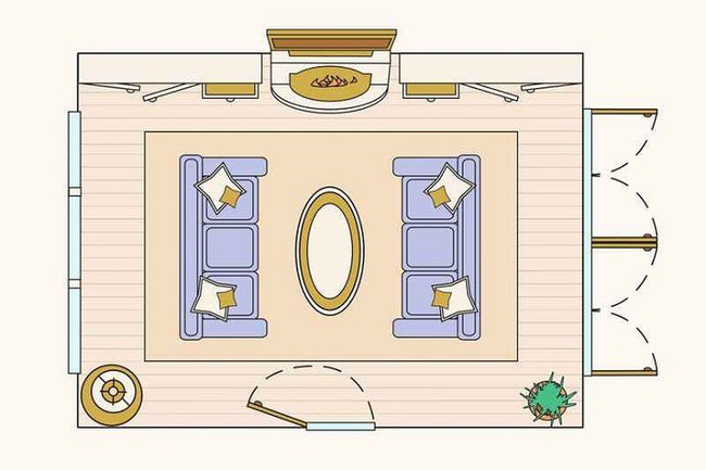 Có 10 bản vẽ thiết kế phòng khách cực tỉ mỉ này thì bạn còn lo gì việc trăn trở xem bố trí phòng khách thế nào cho hợp lý - Ảnh 1.