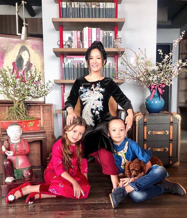Nào có thua người lớn, nhóc tỳ nhà sao Việt xúng xính diện áo dài, nổi nhất là mẹ con Thu Thảo và Hà Anh - Ảnh 7.