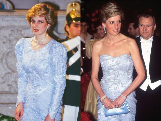 """Kate Middleton đã đạt đỉnh cao tiết kiệm trang phục giống Công nương Diana, khiến dân tình """"phục lăn"""" vì chế lại váy quá sức tài tình - Ảnh 1."""