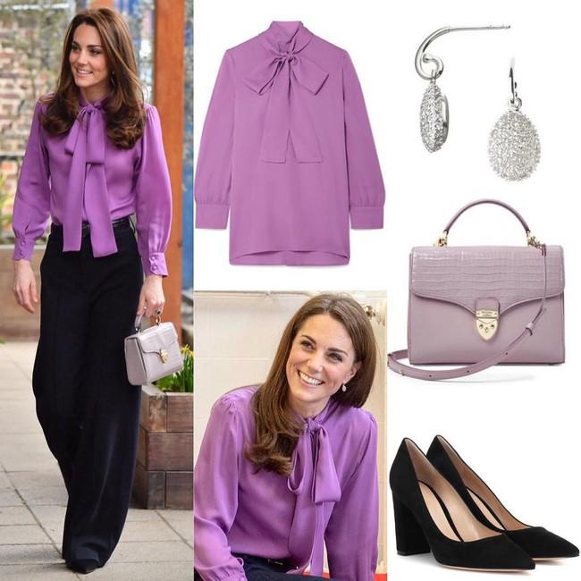 Lên đồ như nàng công sở thứ thiệt, Công nương Kate được khen nức nở dù chọn màu áo siêu khó nhằn - Ảnh 3.