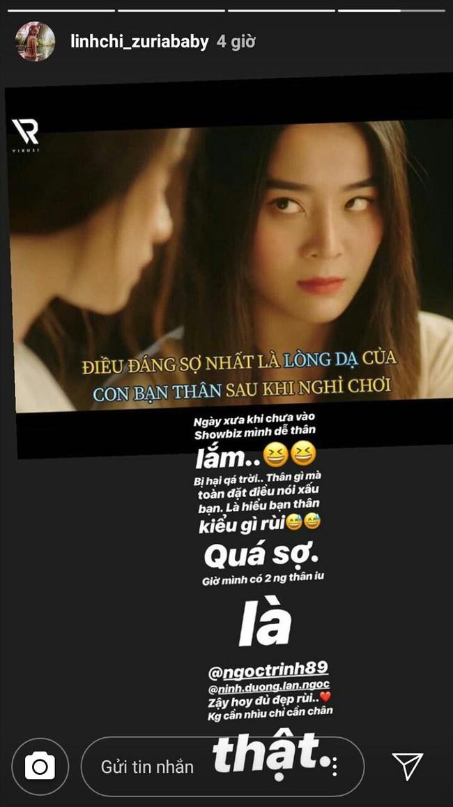 Linh Chi bất ngờ chia sẻ chuyện thường xuyên bị bạn thân showbiz đặt điều nói xấu giữa nghi vấn bị Vũ Khắc Tiệp cạch mặt - Ảnh 1.