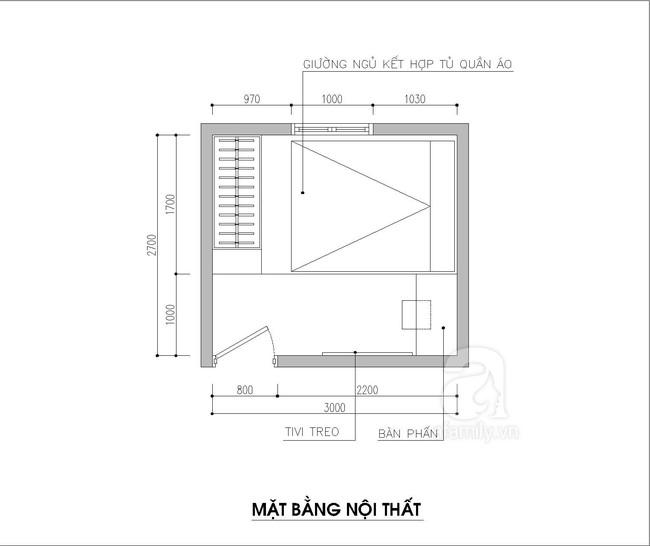 Tư vấn thiết kế phòng ngủ siêu nhỏ 8m² đầy đủ tiện ích cho đôi vợ chồng trẻ - Ảnh 1.