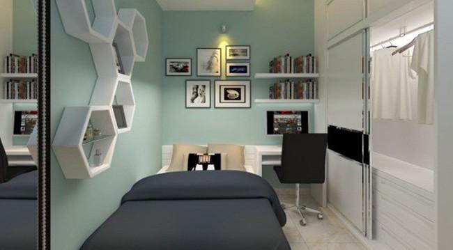 Tư vấn thiết kế phòng ngủ siêu nhỏ 8m² đầy đủ tiện ích cho đôi vợ chồng trẻ - Ảnh 6.