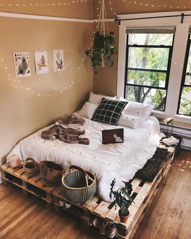 Giường pallet, loại giường ngon - bổ - rẻ, góp mặt trong không gian nào cũng xinh xắn, hài hòa - Ảnh 5.