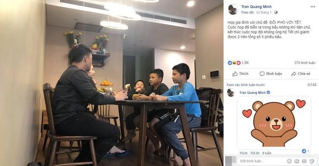 Nhà có 3 cậu con trai, đây là cách xử lý xung đột công bằng nhưng không kém phần hài hước của BTV Quang Minh - Ảnh 2.