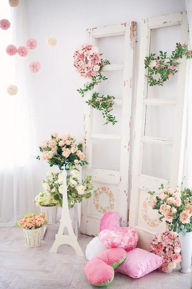 Trang trí giường cưới đẹp ngọt ngào và lãng mạn với hoa tươi - Ảnh 16.