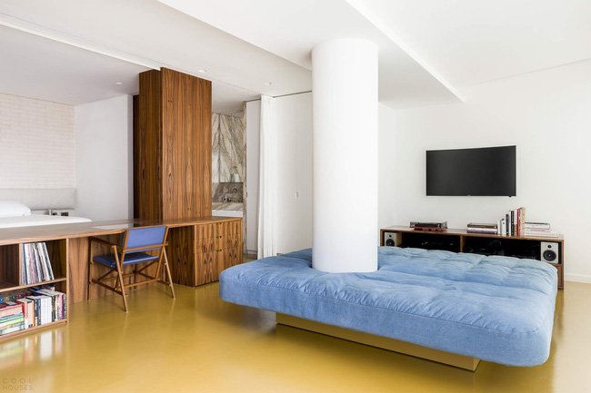 Studio biến thành căn hộ hiện đại trong tích tắc nhờ điều chỉnh rèm cửa và nội thất - Ảnh 10.
