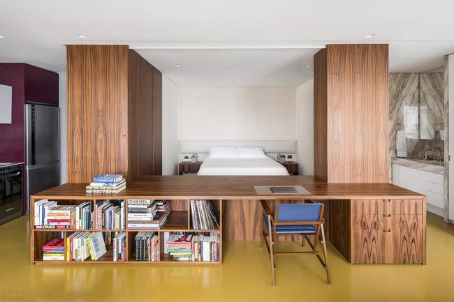 Studio biến thành căn hộ hiện đại trong tích tắc nhờ điều chỉnh rèm cửa và nội thất - Ảnh 3.