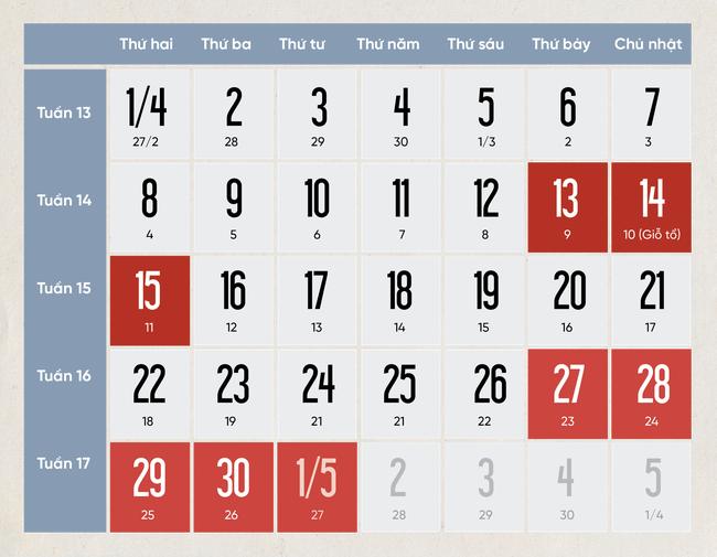 Giỗ tổ Hùng Vương và lễ 30/4 - 1/5, học sinh TP.HCM chỉ được nghỉ 6 ngày so với lịch nghỉ 8 ngày từ trước - Ảnh 3.