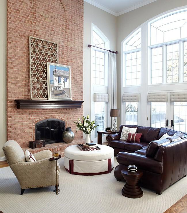 Điểm danh vài mẫu lò sưởi cực thích hợp cho phòng khách gia đình thêm phần ấm cúng - Ảnh 6.