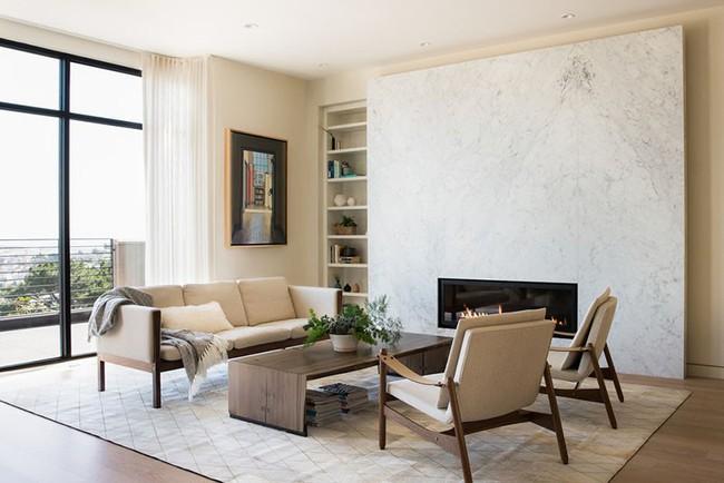 Điểm danh vài mẫu lò sưởi cực thích hợp cho phòng khách gia đình thêm phần ấm cúng - Ảnh 9.