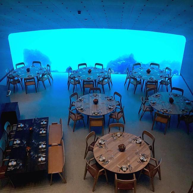 Nhà hàng dưới nước đầu tiên tại châu Âu gây sốt trên toàn thế giới: Đầu tháng 4 mới khai trương nhưng đã kín lịch đặt chỗ đến tận tháng 9 - Ảnh 17.