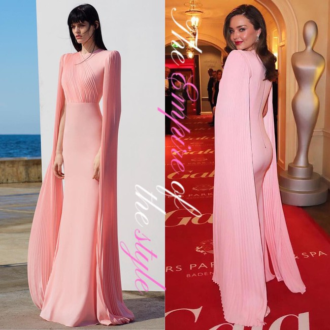 Bầu bí lần 3, Miranda Kerr vẫn đốn tim vạn người vì sắc vóc quá sức lộng lẫy và công lớn thuộc về chiếc đầm hồng pastel này  - Ảnh 3.