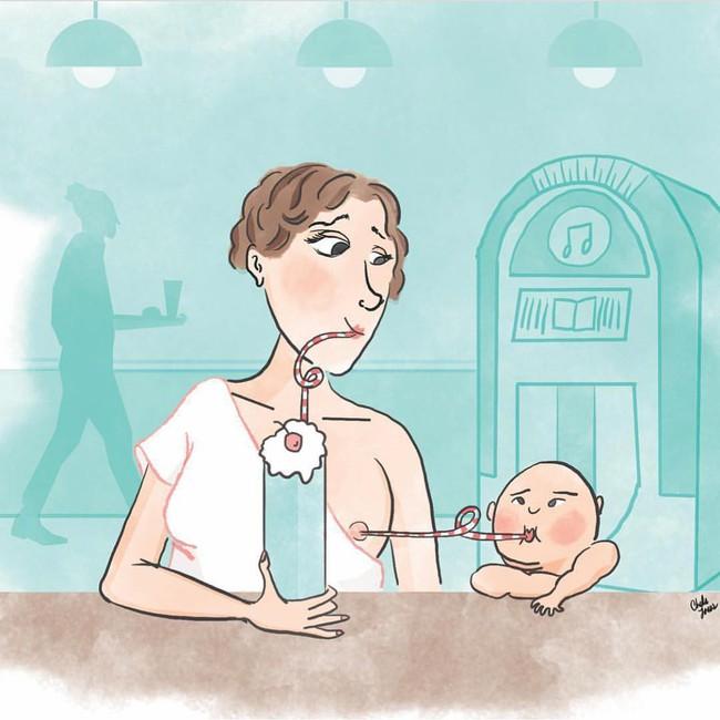 Bộ tranh hài hước về cuộc sống thường ngày của những bà mẹ bỉm sữa, ai xem xong cũng phải cười té ghế - Ảnh 6.