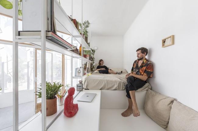 Căn hộ 25m² mát về hè, ấm về đông và luôn rộng hơn diện tích thực bởi thiết kế nội thất thông minh - Ảnh 8.