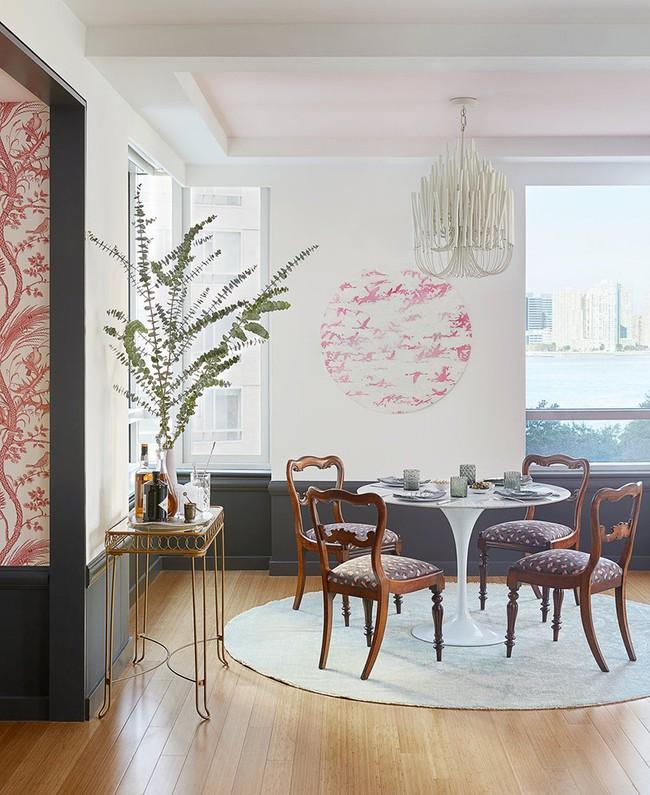 Không cần phải đắn đo nhiều vì bàn tròn luôn là lựa chọn tuyệt vời cho phòng ăn gia đình - Ảnh 14.