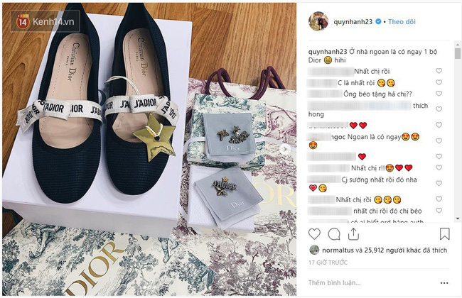 Được Duy Mạnh tặng giày hiệu, Quỳnh Anh đi đâu làm gì cũng chỉ diện quà mà bạn trai mua - Ảnh 1.