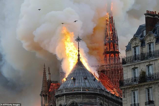 Dân mạng Việt thảng thốt, giăng status xót xa trước vụ cháy Nhà thờ Đức Bà Paris - Ảnh 1.