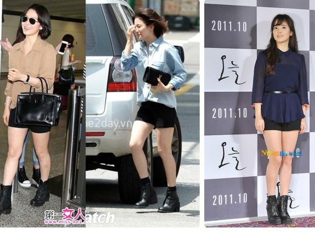 Dù diện đồ kín mít nhưng Song Hye Kyo vẫn lộ nhược điểm này khi diện đồ   - Ảnh 3.