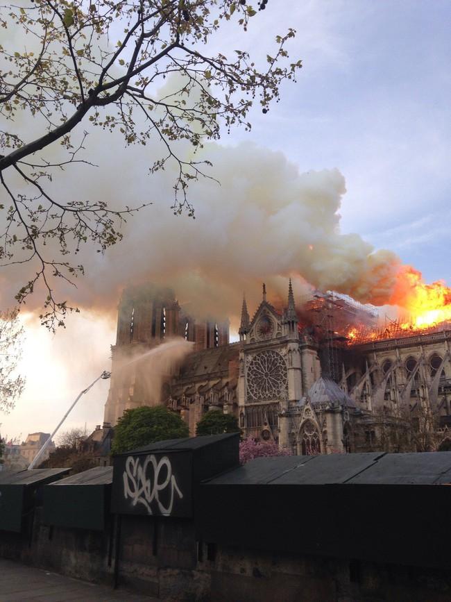 Dân mạng Việt thảng thốt, giăng status xót xa trước vụ cháy Nhà thờ Đức Bà Paris - Ảnh 2.