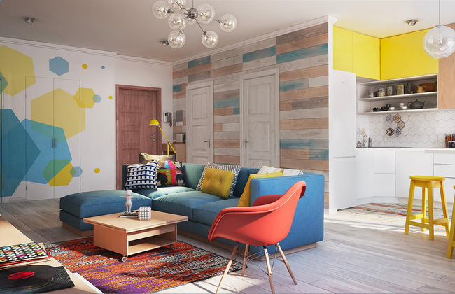 Căn hộ 80m² với rực rỡ sắc màu để chào đón một mùa hè đầy nắng - Ảnh 1.