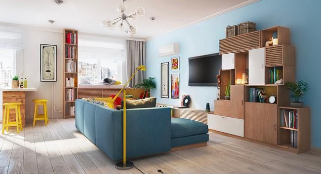 Căn hộ 80m² với rực rỡ sắc màu để chào đón một mùa hè đầy nắng - Ảnh 2.