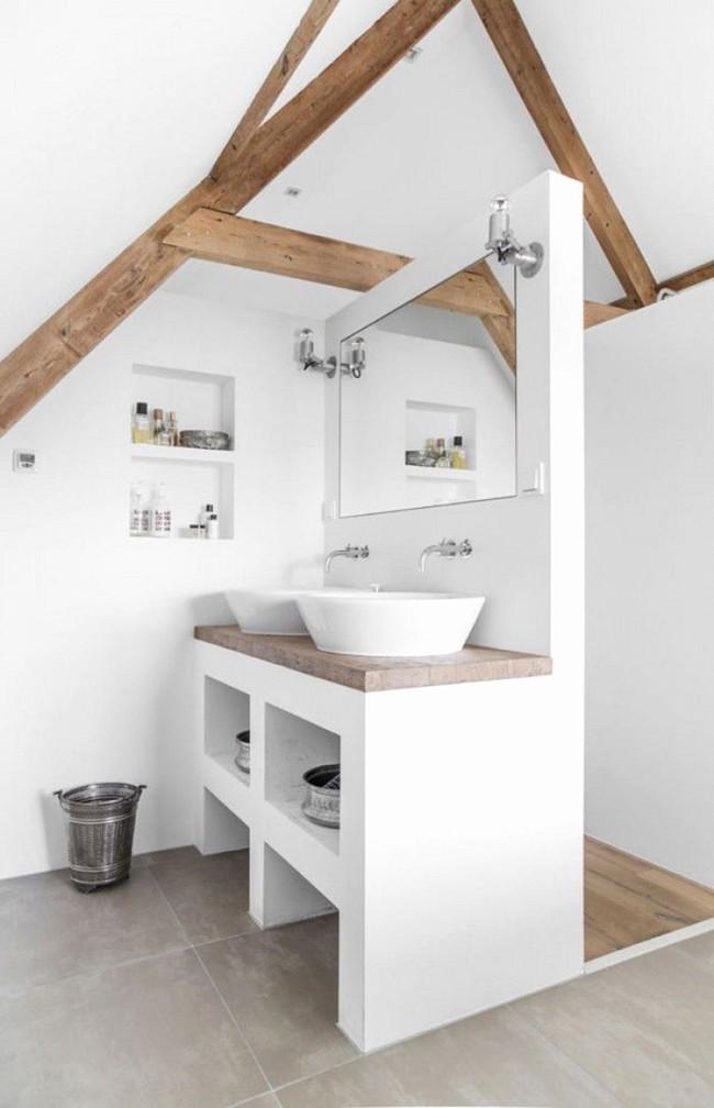 Tận dụng gác mái làm phòng tắm, ý tưởng thiết kế vừa đẹp vừa độc đáo ngại gì mà không thử - Ảnh 10.