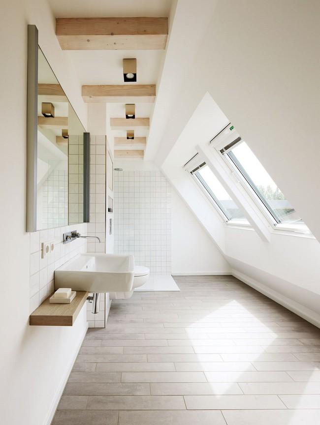 Tận dụng gác mái làm phòng tắm, ý tưởng thiết kế vừa đẹp vừa độc đáo ngại gì mà không thử - Ảnh 14.