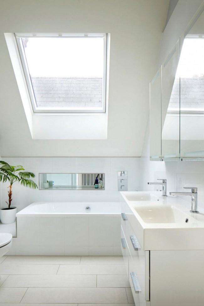 Tận dụng gác mái làm phòng tắm, ý tưởng thiết kế vừa đẹp vừa độc đáo ngại gì mà không thử - Ảnh 3.