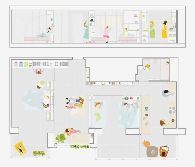 Tường xoay cho phép căn hộ này thay đổi bố cục chỉ trong vài phút - Ảnh 12.