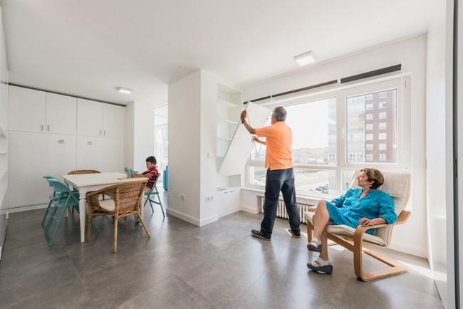 Tường xoay cho phép căn hộ này thay đổi bố cục chỉ trong vài phút - Ảnh 8.