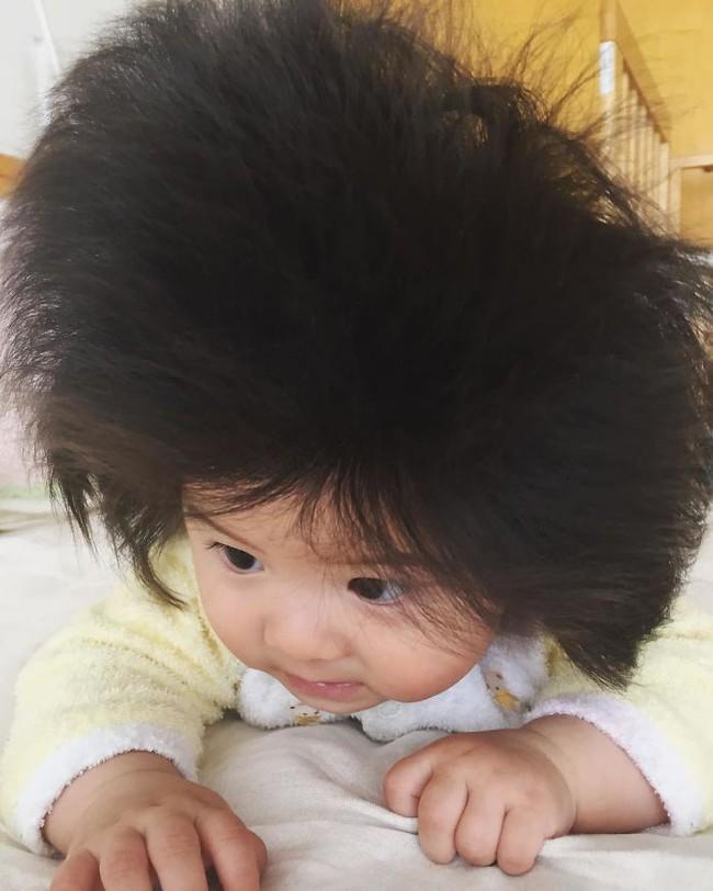 Điểm danh những em nổi như cồn trên mạng vì sở hữu mái tóc chẳng giống ai, các mẹ nhìn vào càng muốn cưng nựng thêm - Ảnh 3.