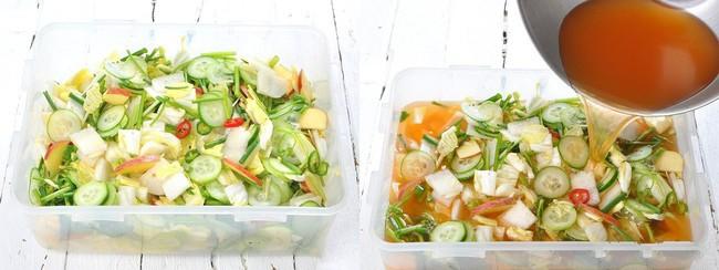 Học cách làm món dưa góp kiểu Hàn, ăn với gì cũng ngon - Ảnh 3.