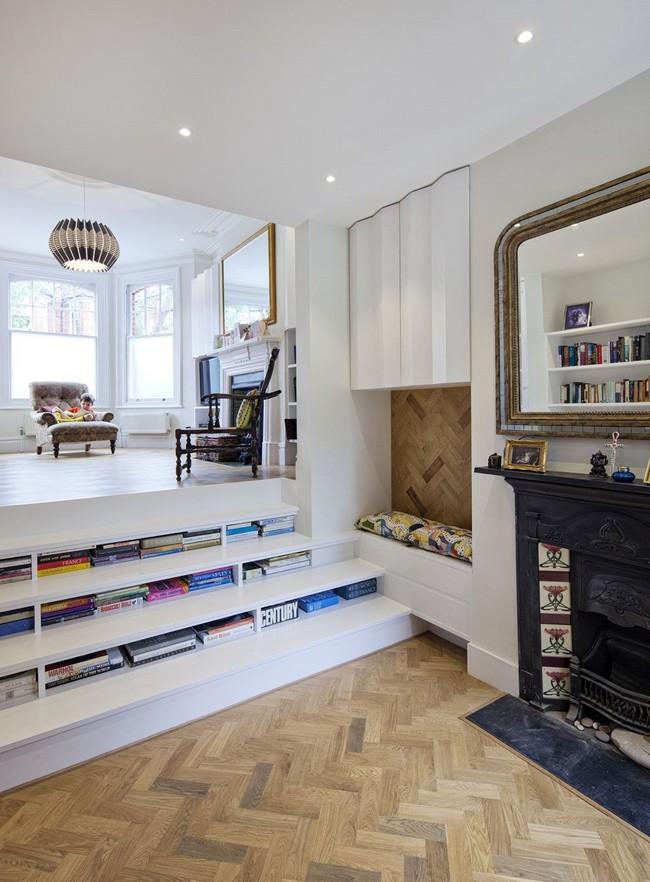 Tận dụng cầu thang thành tủ sách đang trở thành xu hướng, có thiết kế khiến giới mộ điệu phải ngạc nhiên vì sự hoành tráng đến không tưởng - Ảnh 18.