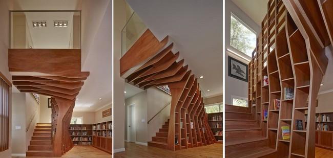 Tận dụng cầu thang thành tủ sách đang trở thành xu hướng, có thiết kế khiến giới mộ điệu phải ngạc nhiên vì sự hoành tráng đến không tưởng - Ảnh 20.