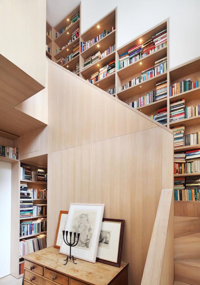 Tận dụng cầu thang thành tủ sách đang trở thành xu hướng, có thiết kế khiến giới mộ điệu phải ngạc nhiên vì sự hoành tráng đến không tưởng - Ảnh 4.