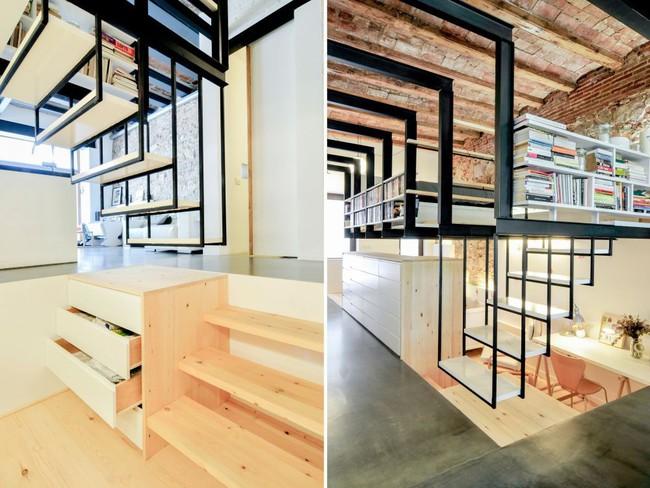 Tận dụng cầu thang thành tủ sách đang trở thành xu hướng, có thiết kế khiến giới mộ điệu phải ngạc nhiên vì sự hoành tráng đến không tưởng - Ảnh 8.