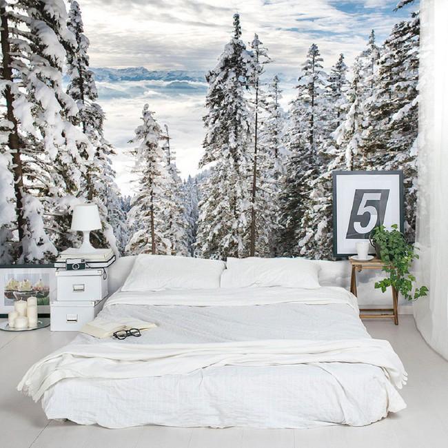Trang trí phòng ngủ ấn tượng nhờ giấy dán tường chân thực đến khó tin - Ảnh 5.