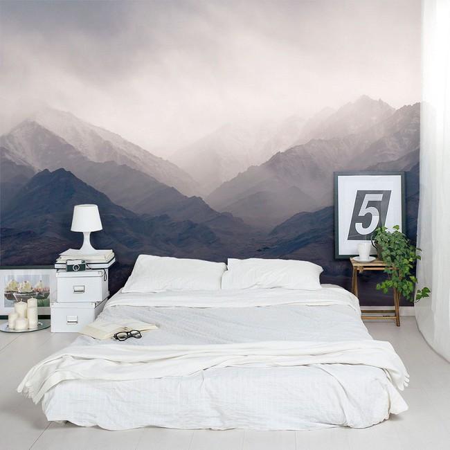 Trang trí phòng ngủ ấn tượng nhờ giấy dán tường chân thực đến khó tin - Ảnh 6.