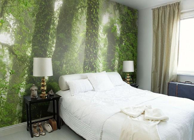 Trang trí phòng ngủ ấn tượng nhờ giấy dán tường chân thực đến khó tin - Ảnh 1.