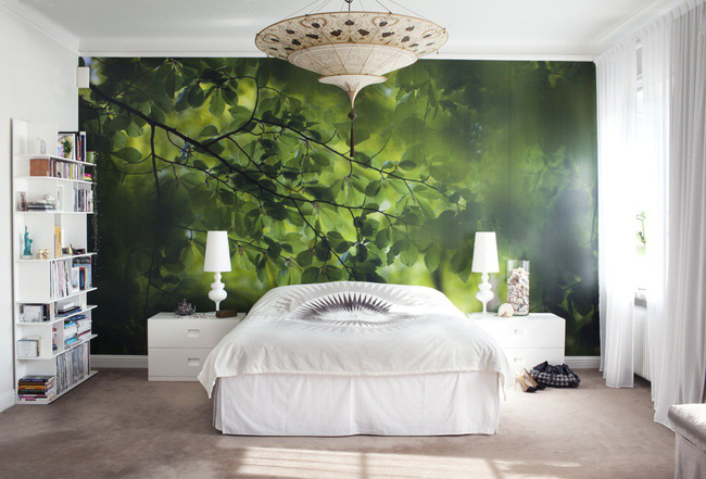 Trang trí phòng ngủ ấn tượng nhờ giấy dán tường chân thực đến khó tin - Ảnh 3.