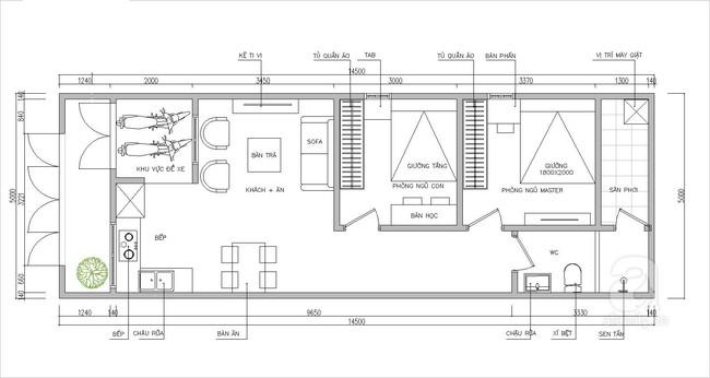Tư vấn thiết kế nhà cấp 4 đầy đủ tiện nghi và tiện lợi cho gia đình 3 thế hệ - Ảnh 1.