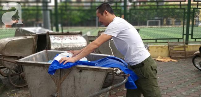 Người phát hiện bé trai sơ sinh trong thùng rác giữa trời mưa lớn: Suýt chút nữa là thằng bé bị chôn sống rồi - Ảnh 1.
