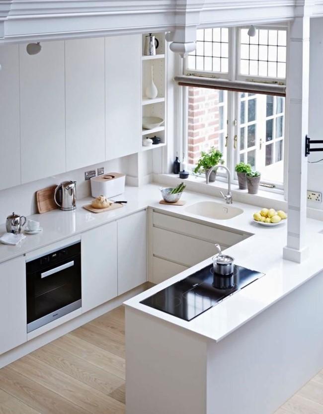 9 phòng bếp nhỏ xíu nhưng nhìn là mê, rất đáng tham khảo cho nhà chật - Ảnh 9.