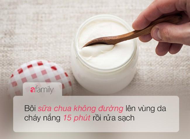 Sữa chua, giấm ăn hay bột ngô chính là liều thuốc để cấp cứu làn da cháy nắng  - Ảnh 7.