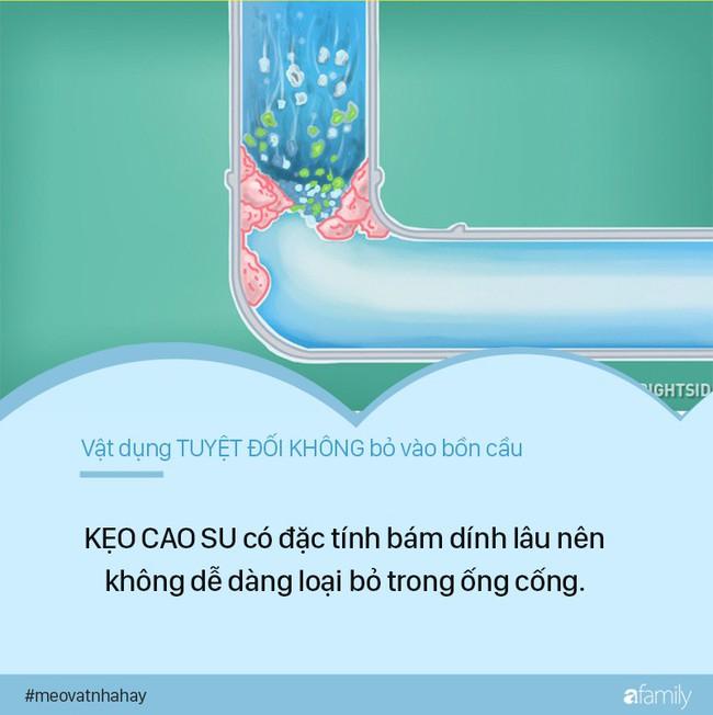 Mẹo vặt: 8 thứ tuyệt đối không được vứt vào bồn cầu vì cực kỳ nguy hiểm, nếu ngoan cố có ngày nhà sẽ ngập nước thải - Ảnh 3.