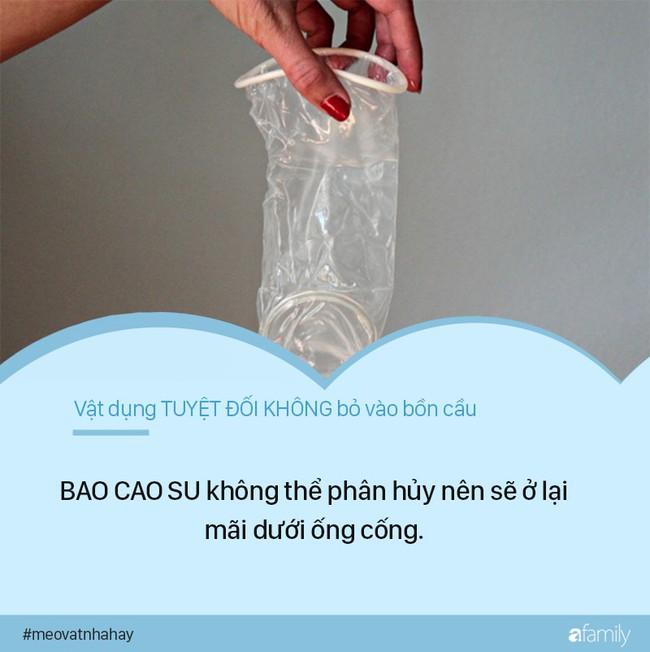 Mẹo vặt: 8 thứ tuyệt đối không được vứt vào bồn cầu vì cực kỳ nguy hiểm, nếu ngoan cố có ngày nhà sẽ ngập nước thải - Ảnh 4.