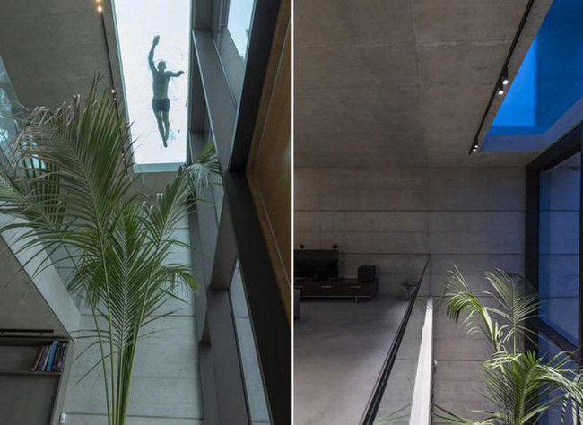 Ngắm kiến trúc nhà phố độc đáo với không gian hiện đại, có phòng tập thể dục, chiếu phim và hồ bơi trong suốt trên nóc nhà - Ảnh 15.
