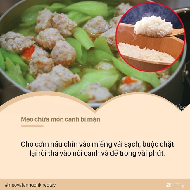 Cách chữa canh mặn bằng cơm trắng - Ảnh 2.