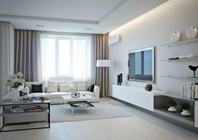 Mẫu căn hộ đẹp có phòng khách liền kề nhà bếp - Ảnh 3.